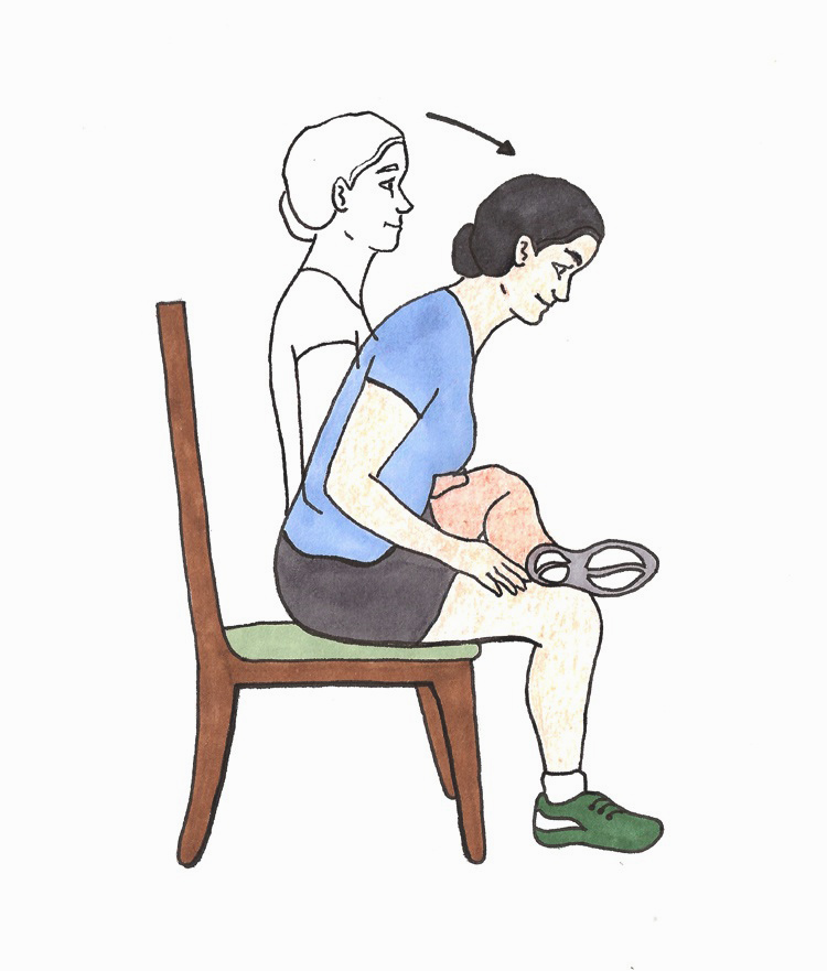 Seated Piriformis Stretch